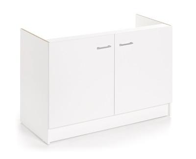 meuble sous evier blanc laura 2 portes 120cm