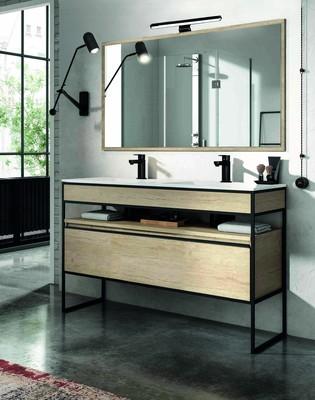 meuble de salle de bains tig bambou l 120 cm egore