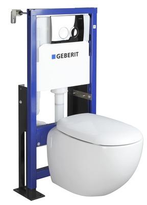 pack wc suspendu osmose rimfree avec abattant declipsable geberit