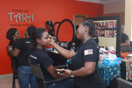house of tara, make up school in nigeria