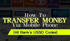 Mobile Phone USSD Code for Money Transfers for All Banks in Nigeria 2017
