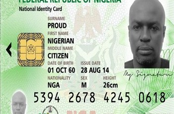 nIGERIA national ID card