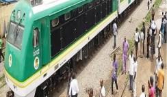 The rail transport in Lagos