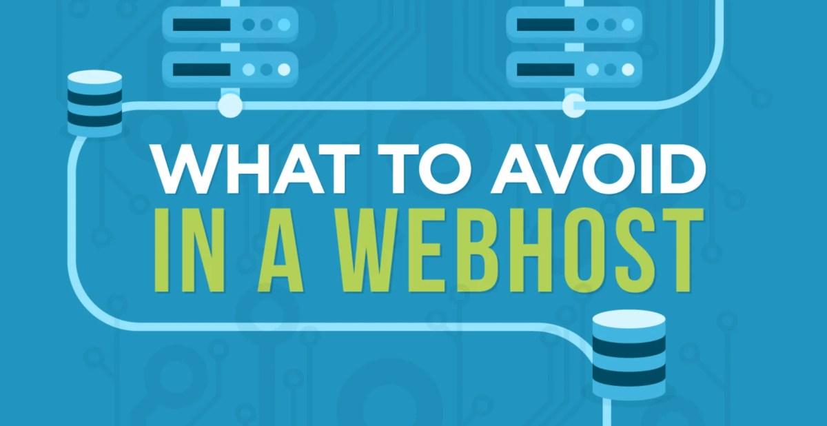 avoid cheap web host