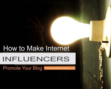 Make internet influencers promote my blog