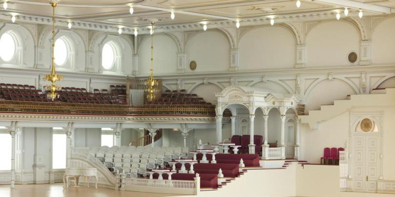 Inside view of Temple Square Salt Lake City for Corporate Business Event Center