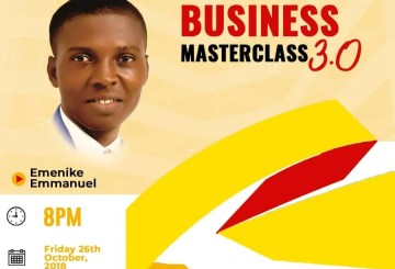 Blogging business masterclass by Emenike Emmanuel