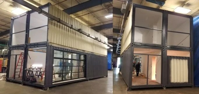 How Bard College Media Lab was built in one day using shipping containers