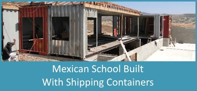 How to use shipping containers to build classroom in Mexico