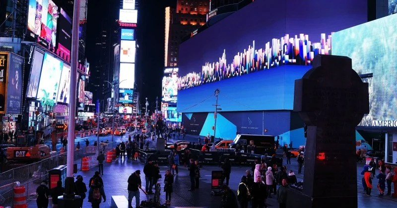 The world's largest and most expensive digital billboard in Times Square - offline marketing strategies used by Google
