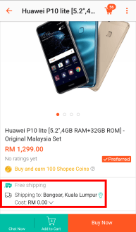 Shopee upload a sample product 1v2