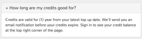 credit validity easyparcel