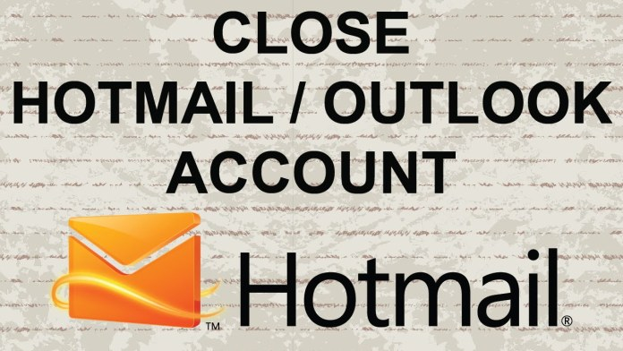 Close Hotmail Account