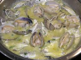 Cocochas de bacalao con almejas
