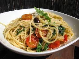Spaguetti a los dos pestos