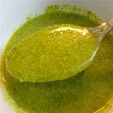 Salsa de aceitunas verdes