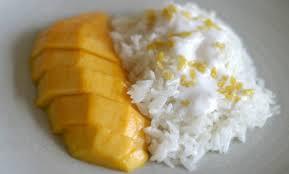 Arroz dulce con mango