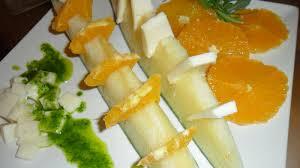 barquitas con crema de melon