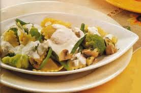 Raviolis con verduras