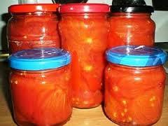Conserva de tomate al natural