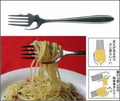 Tenedor para espaguetis