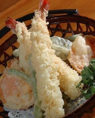 Tempura de pescado y verduras