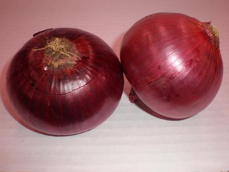 Tortilla de cebolla roja