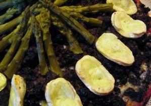 gratinado de morcilla y cebolla