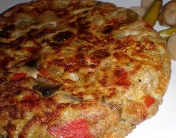 Pastel de carne con sanfaina