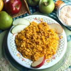 arroz al azafran con manzanas