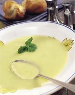 Sopa de hinojo con arroz