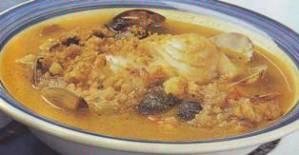 Sopa de pescado con miga