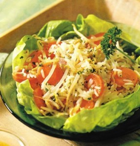 Ensalada de arroz basmati con soja