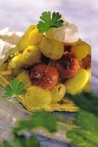 Gelatina de uvas y grosellas