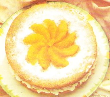 Pastel de queso con naranja