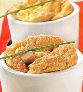 Soufflés de foie, miel y especias