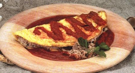 Omelette con atún