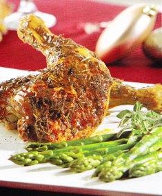 Pollo rostizado a las hierbas finas