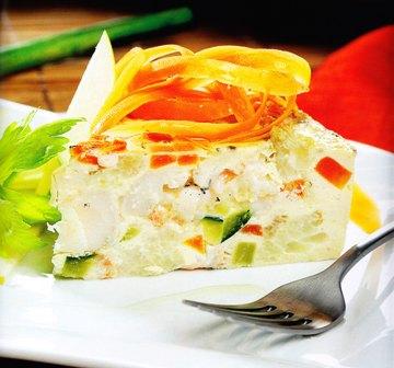 Pudín de pescado con verdura