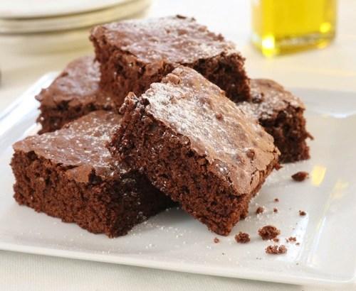 Aceite de oliva en el brownie