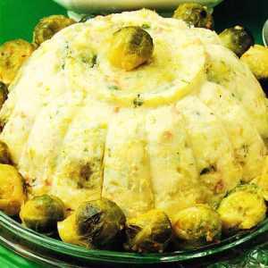 Pastel de coles de bruselas