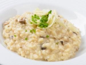 arroz caldoso con congrio y coliflor
