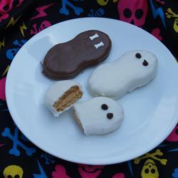 Fantasmás de Halloween (galletas de chocolate)