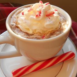 Bastón de caramelo de cacao – Bebida de Navidad