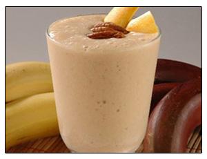 Batido de aguacate y plátano