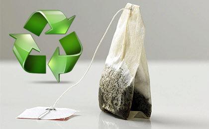 Reciclar las bolsas de té