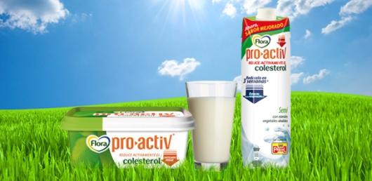 Flora Pro Activ te ayuda a reducir tu nivel de colesterol