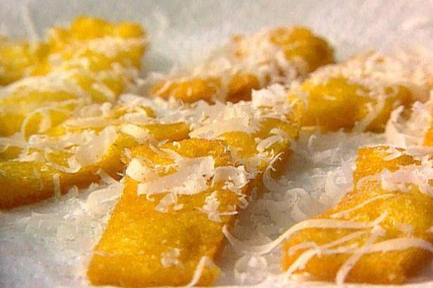 Pastel de polenta y queso de cabra
