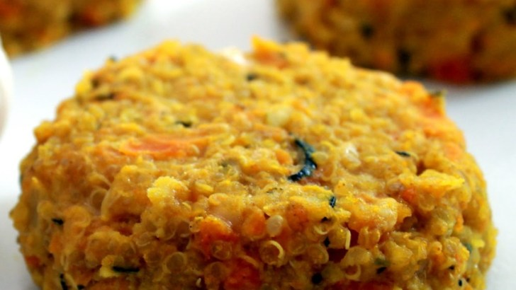 Hamburguesas de quinoa y lentejas rojas