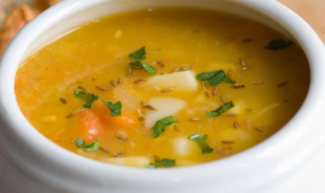 Sopa de Avena con verduras